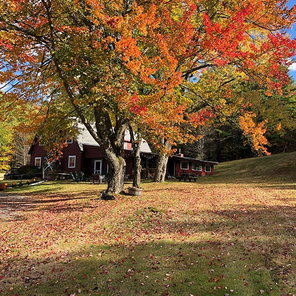 Inn among fall foliage