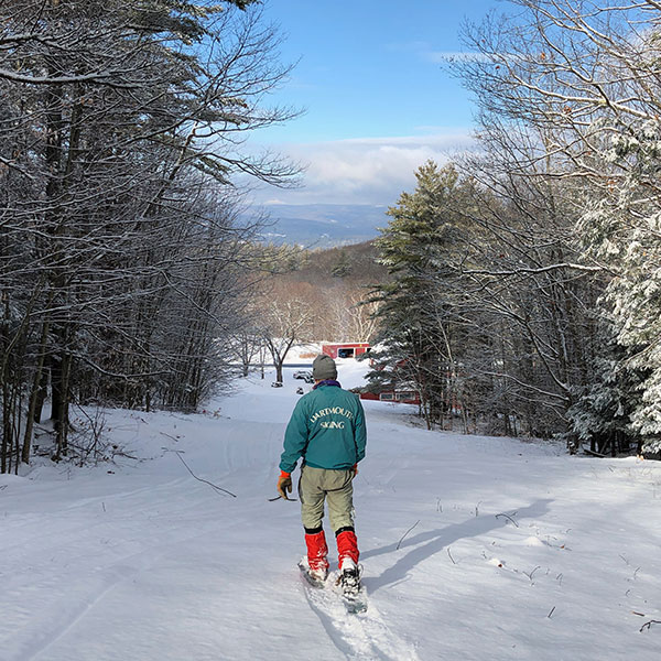 Snowshoeing on Open Trail
